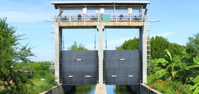 Sbarramento fluviale in Vietnam dotato di cilindri Hidromec