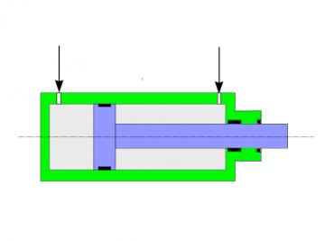 industrial hydraulic cylinder, doble acting hydraulic cylinder